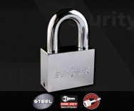 ECL-Europlus Chromed Steel Padlock